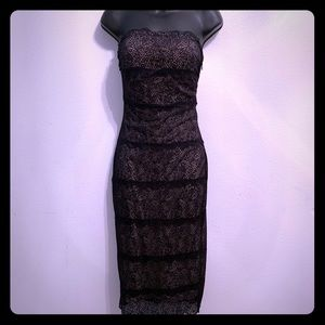 Stretchy Black Lace Bebe dress